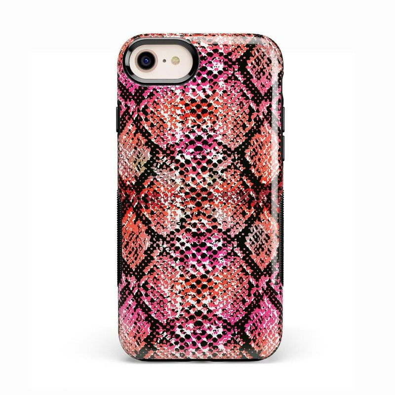 Snake Along Red Snake Skin Case iPhone Case get.casely Classic iPhone 8 Plus