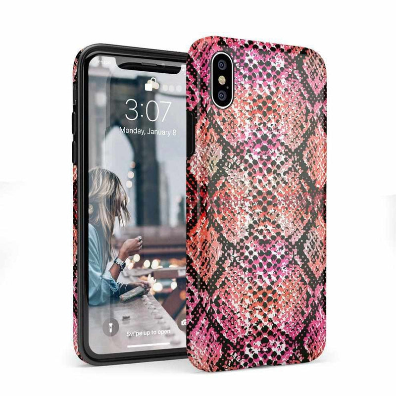 Snake Along Red Snake Skin Case iPhone Case get.casely Classic iPhone X / XS
