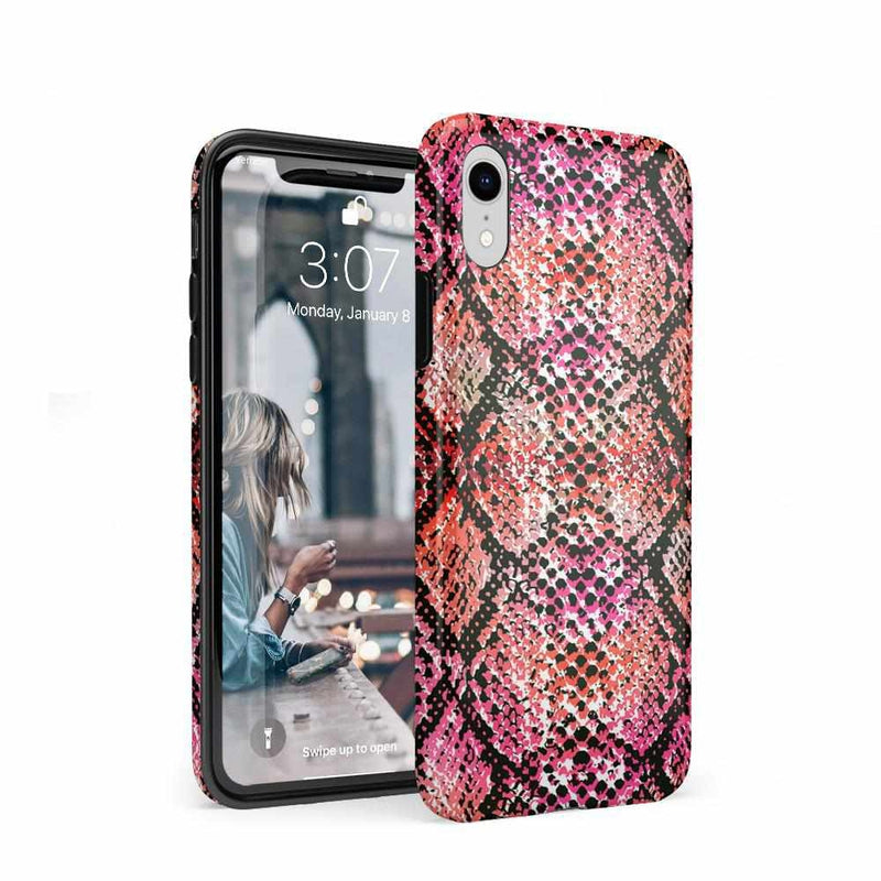 Snake Along Red Snake Skin Case iPhone Case get.casely Classic iPhone XR
