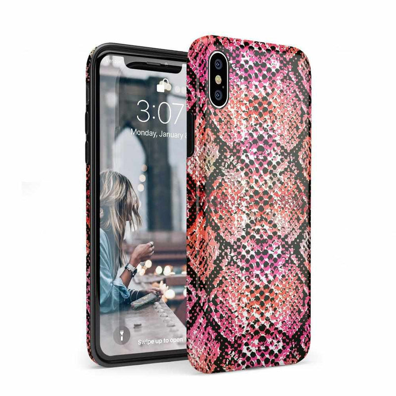 Snake Along Red Snake Skin Case iPhone Case get.casely Classic iPhone XS Max