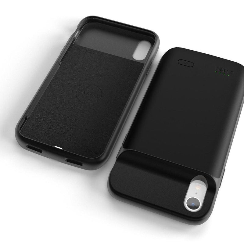 Solid Black Battery-Powered Charging Case iPhone Case get.casely