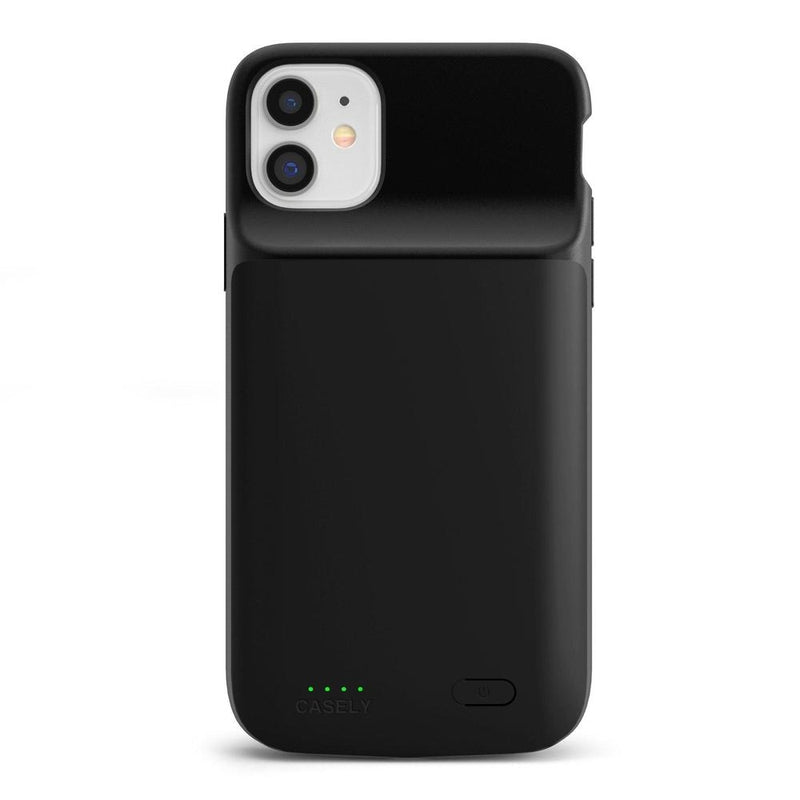 Solid Black Battery-Powered Charging Case iPhone Case get.casely Power 2.0 iPhone 11