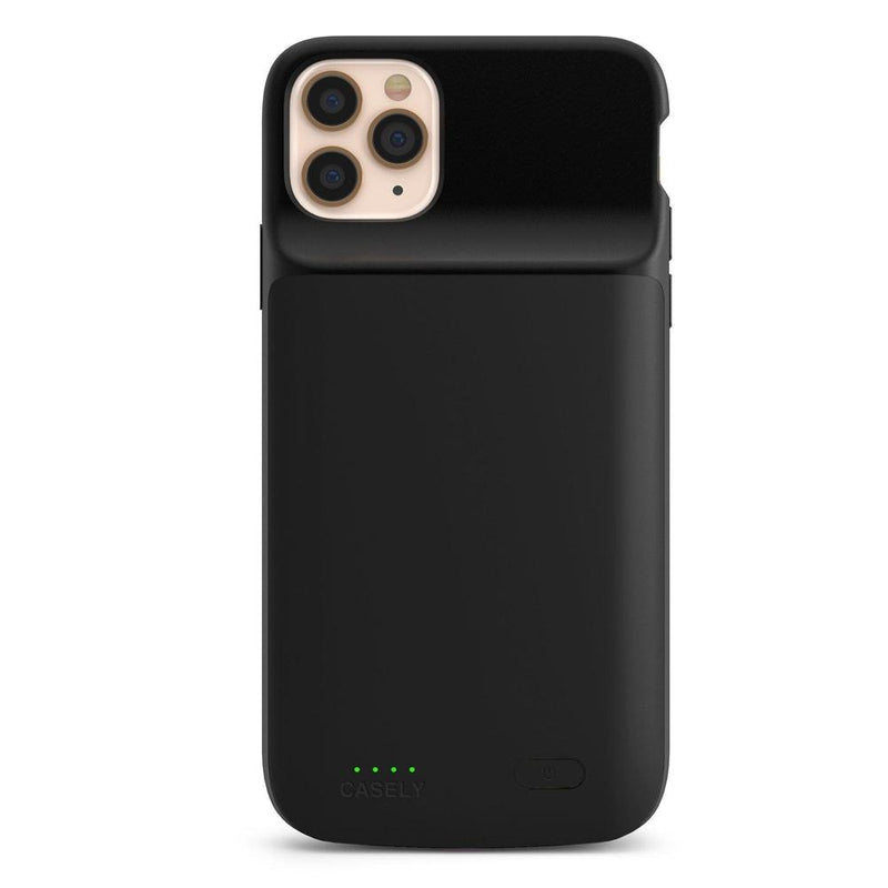 Solid Black Battery-Powered Charging Case iPhone Case get.casely Power 2.0 iPhone 11 Pro Max