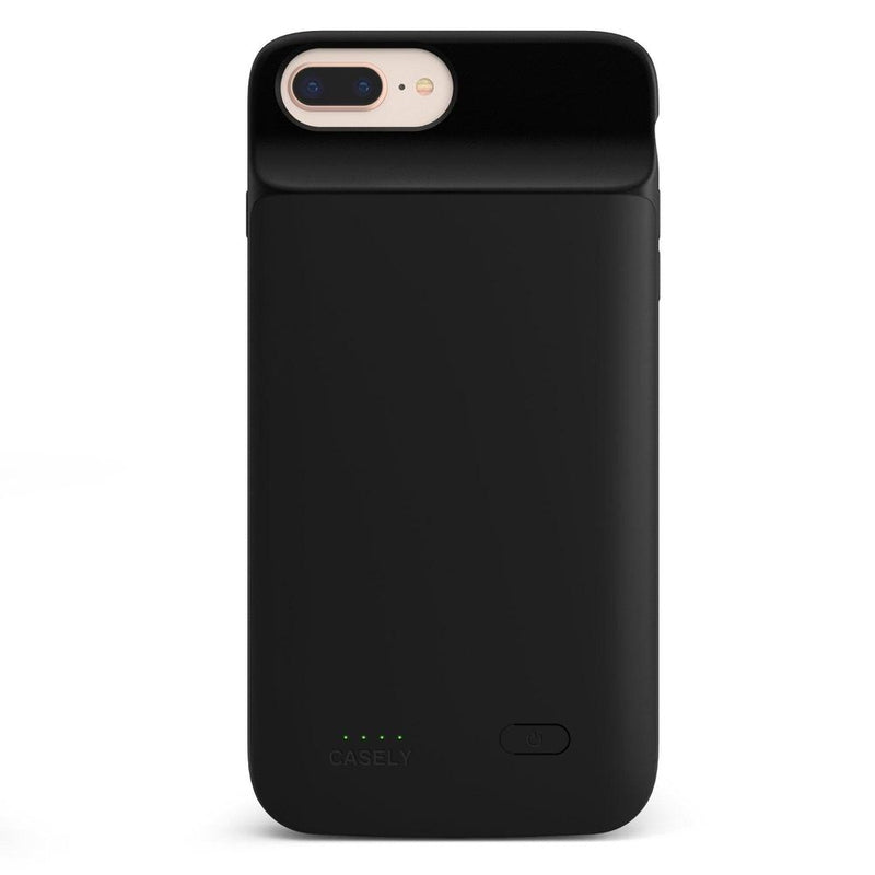 Solid Black Battery-Powered Charging Case iPhone Case get.casely Power 2.0 iPhone 8 Plus
