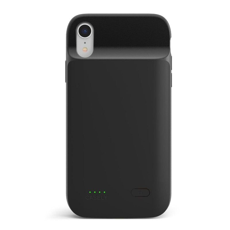 Solid Black Battery-Powered Charging Case iPhone Case get.casely Power 2.0 iPhone XR