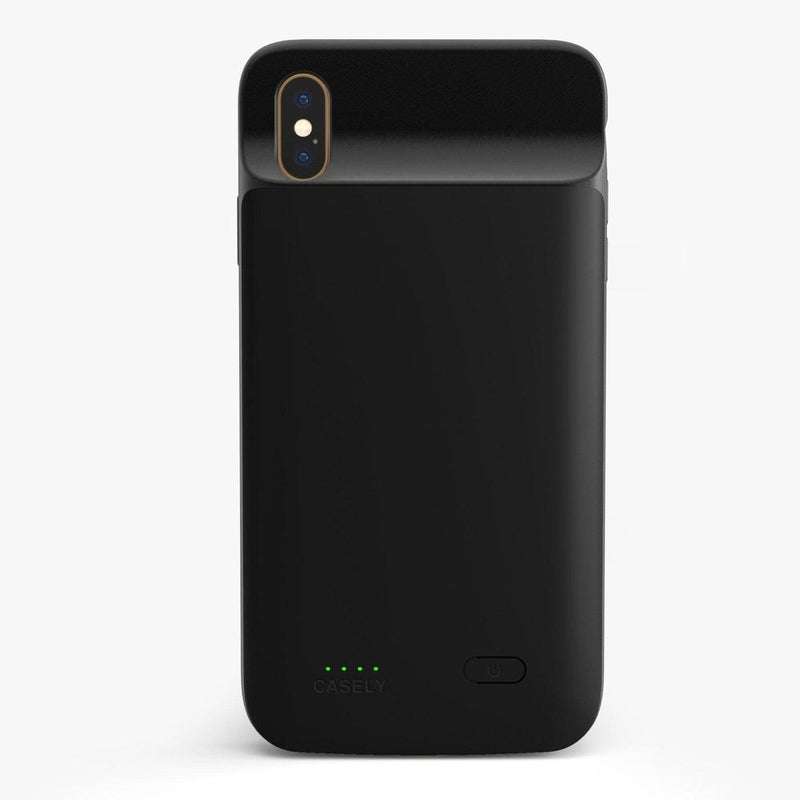 Solid Black Battery-Powered Charging Case iPhone Case get.casely Power 2.0 iPhone XS Max
