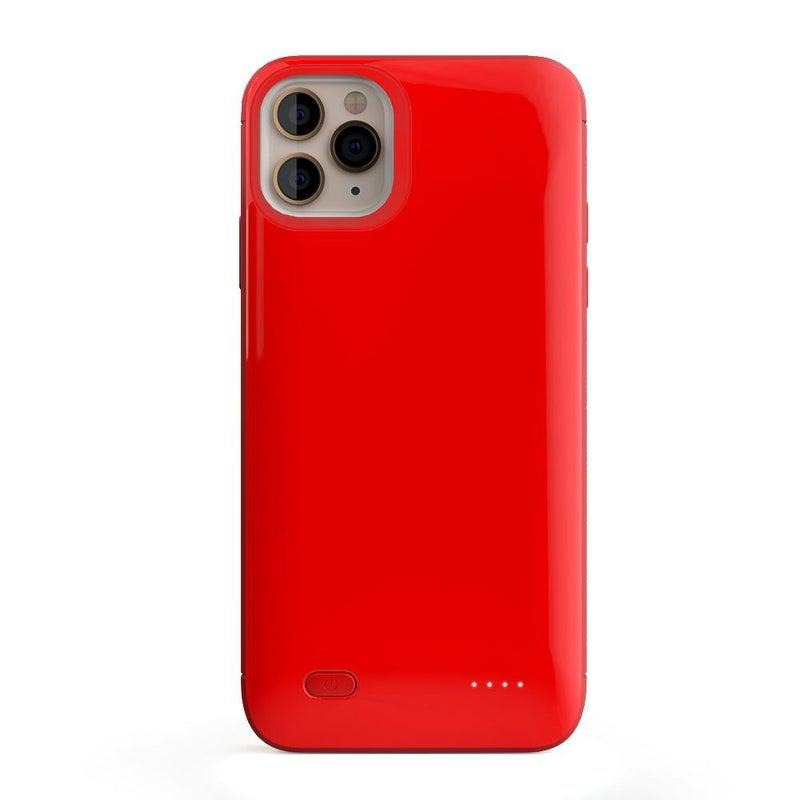 Solid Red Battery-Powered Charging Case iPhone Case get.casely Power iPhone 8