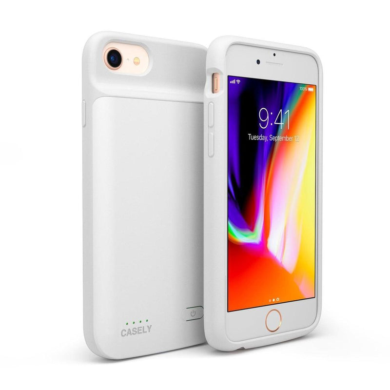 Solid White Battery-Powered Charging Case iPhone Case get.casely