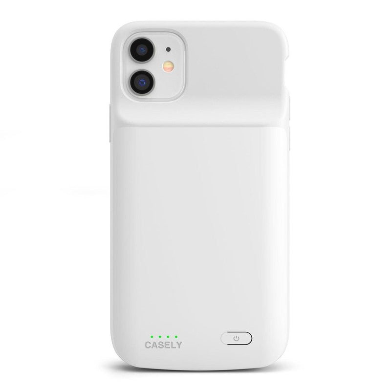 Solid White Battery-Powered Charging Case iPhone Case get.casely Power 2.0 iPhone 11