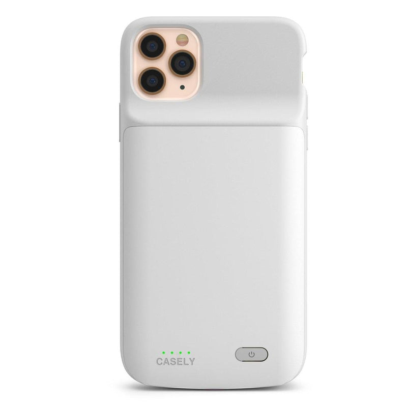 Solid White Battery-Powered Charging Case iPhone Case get.casely Power iPhone 8