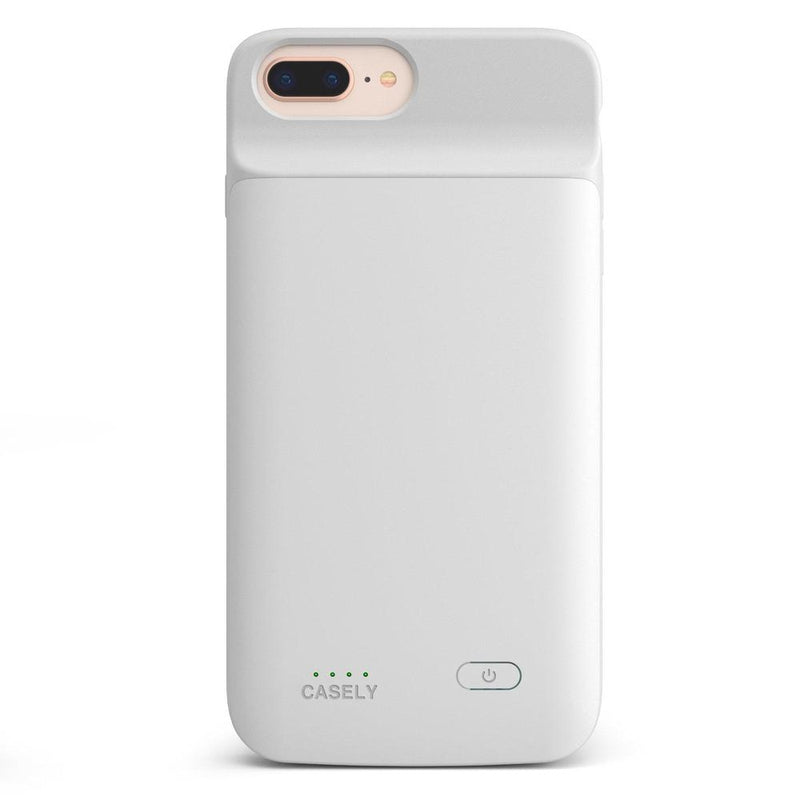 Solid White Battery-Powered Charging Case iPhone Case get.casely Power 2.0 iPhone 8 Plus