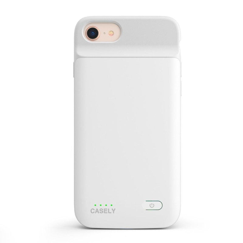 Solid White Battery-Powered Charging Case iPhone Case get.casely Power 2.0 iPhone SE (2020)