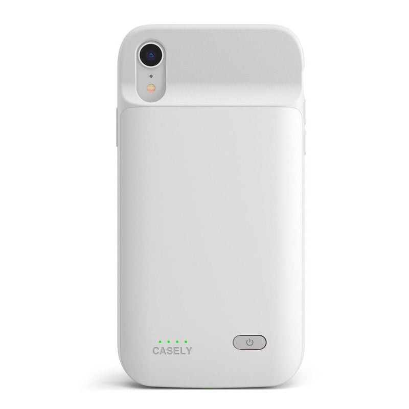 Solid White Battery-Powered Charging Case iPhone Case get.casely Power 2.0 iPhone XR