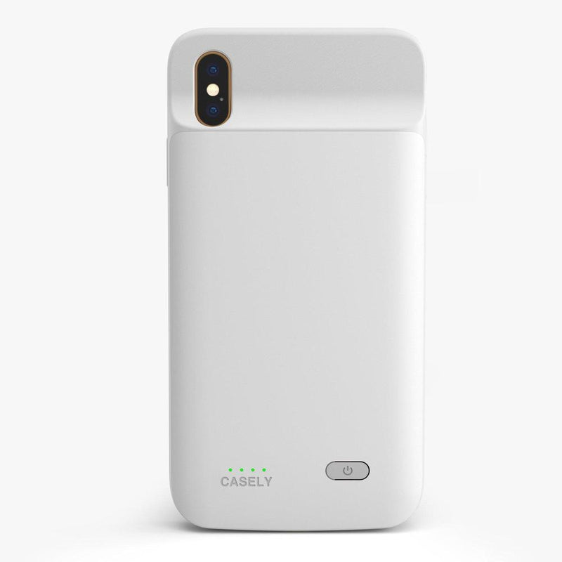 Solid White Battery-Powered Charging Case iPhone Case get.casely Power 2.0 iPhone XS Max