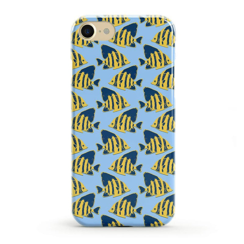 Something's Fishy Navy Blue & Yellow Fish Print Case iPhone Case get.casely Classic iPhone 8