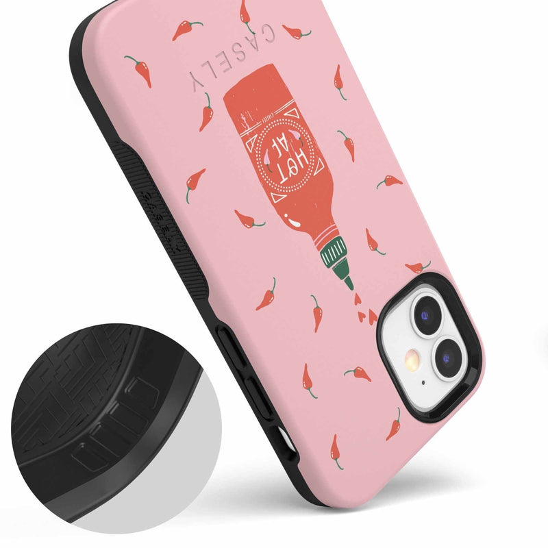 Spicy AF | Pink Chili Hot Sauce Case iPhone Case get.casely