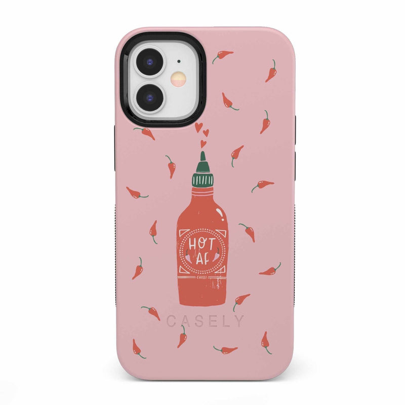 Spicy AF | Pink Chili Hot Sauce Case iPhone Case get.casely Bold iPhone 12 Mini