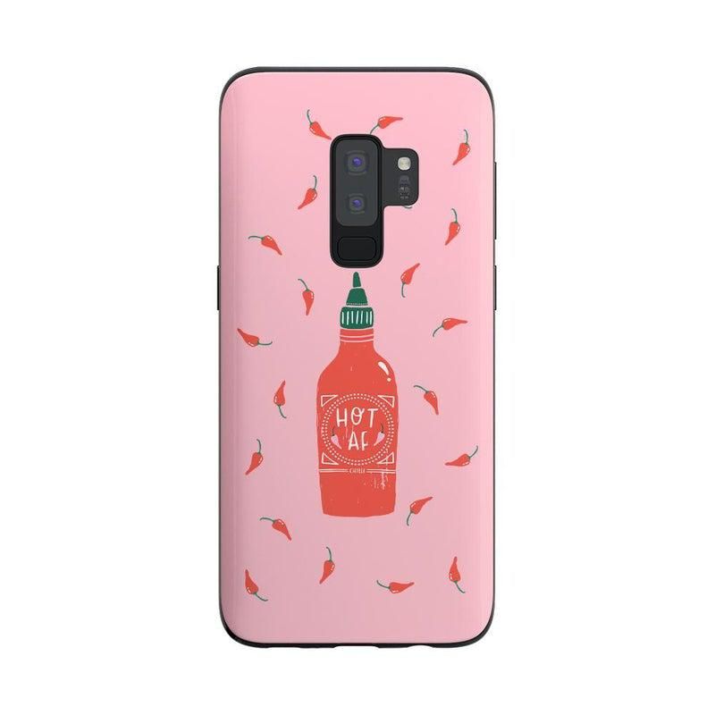 Spicy AF | Pink Chili Hot Sauce Case iPhone Case get.casely Classic Galaxy S9 Plus