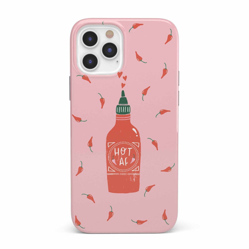 Spicy AF | Pink Chili Hot Sauce Case iPhone Case get.casely Classic iPhone SE (2020)