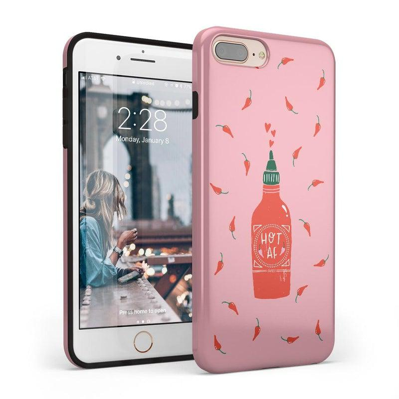 Spicy AF | Pink Chili Hot Sauce Case iPhone Case get.casely Classic iPhone 8 Plus