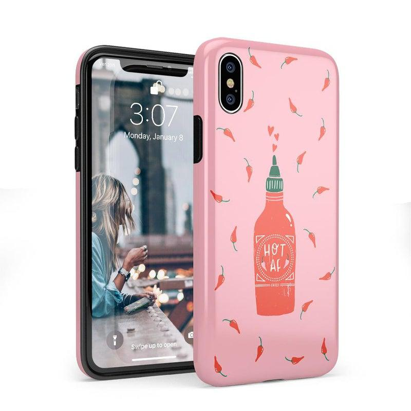 Spicy AF | Pink Chili Hot Sauce Case iPhone Case get.casely Classic iPhone X / XS