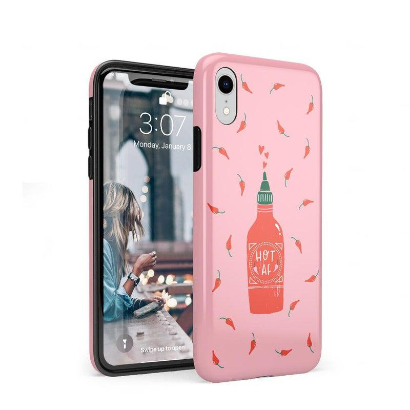 Spicy AF | Pink Chili Hot Sauce Case iPhone Case get.casely Classic iPhone XR