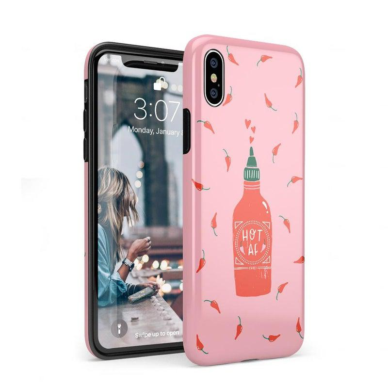 Spicy AF | Pink Chili Hot Sauce Case iPhone Case get.casely Classic iPhone XS Max