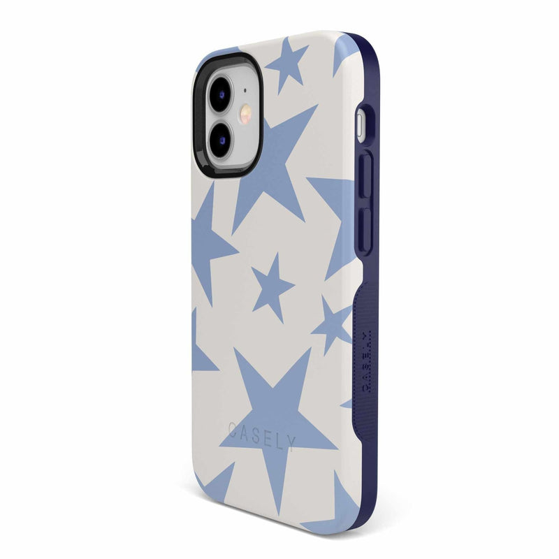Stars Align | Blue & White Stars Case iPhone Case get.casely