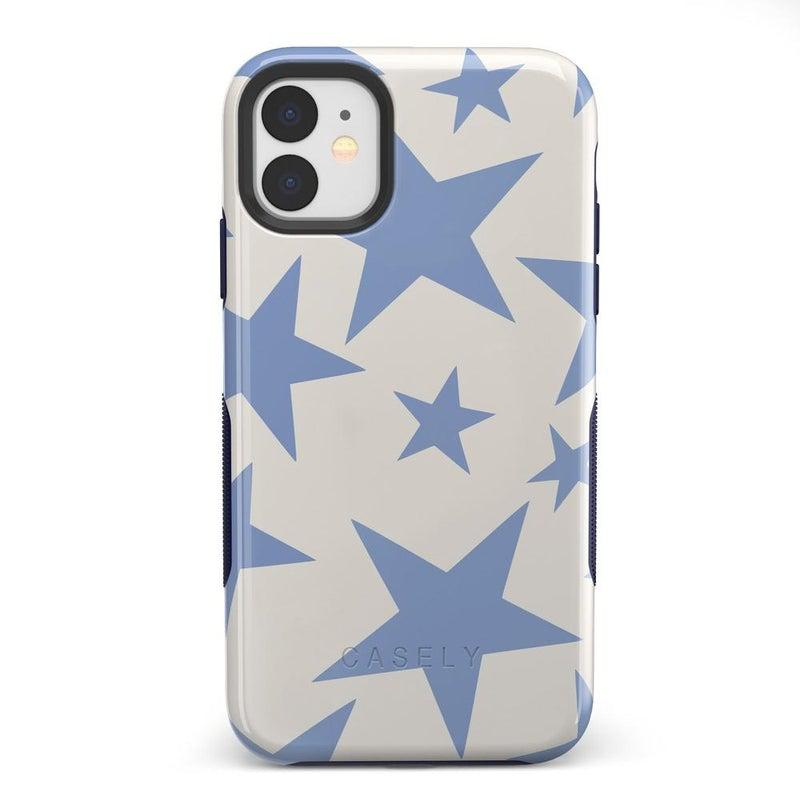 Stars Align | Blue & White Stars Case iPhone Case get.casely Bold iPhone 11