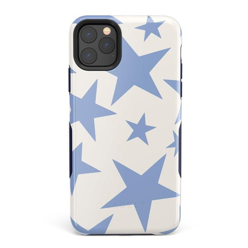 Stars Align | Blue & White Stars Case iPhone Case get.casely Bold iPhone 11 Pro Max