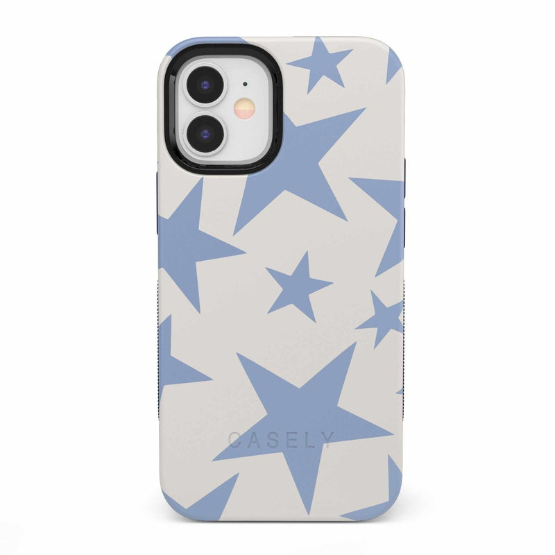 Stars Align | Blue & White Stars Case iPhone Case get.casely Bold iPhone 12 Mini