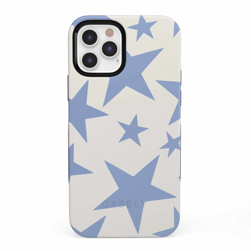 Stars Align | Blue & White Stars Case iPhone Case get.casely Bold iPhone 12 Pro