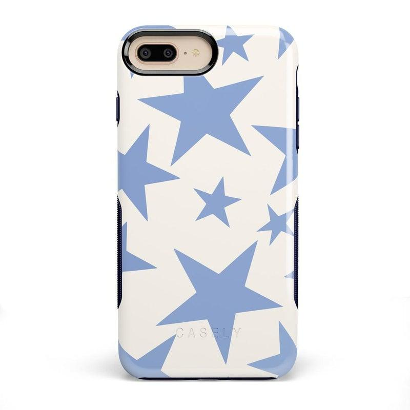Stars Align | Blue & White Stars Case iPhone Case get.casely Bold iPhone 8 Plus