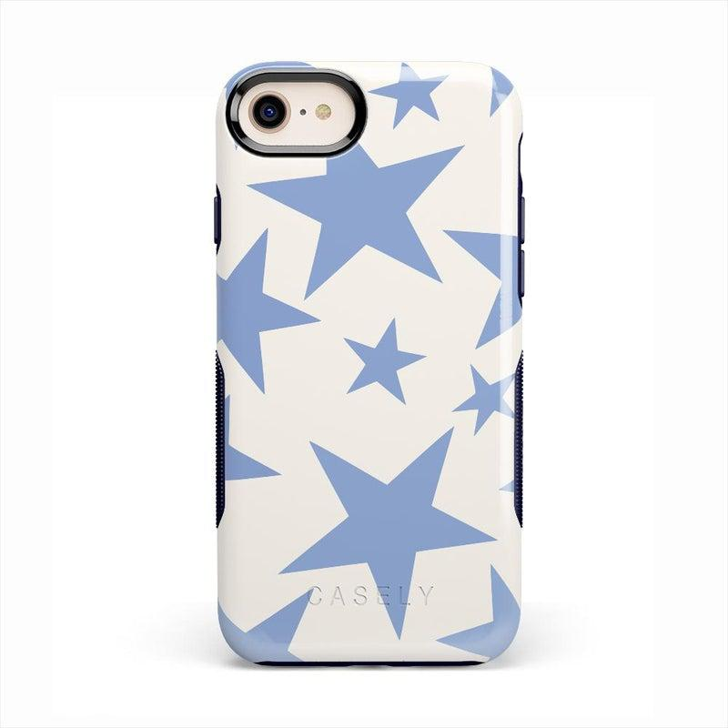 Stars Align | Blue & White Stars Case iPhone Case get.casely Bold iPhone SE (2020)