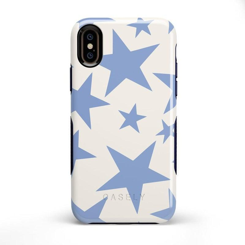 Stars Align | Blue & White Stars Case iPhone Case get.casely Bold iPhone X / XS