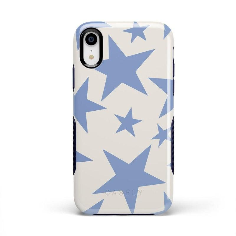 Stars Align | Blue & White Stars Case iPhone Case get.casely Bold iPhone XR