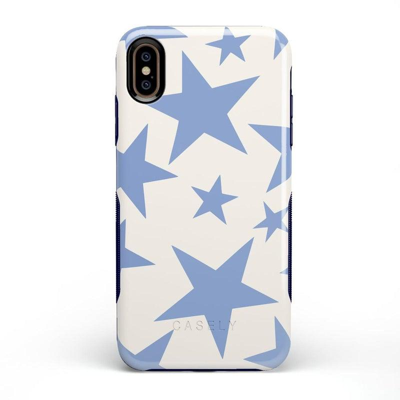 Stars Align | Blue & White Stars Case iPhone Case get.casely Bold iPhone XS Max
