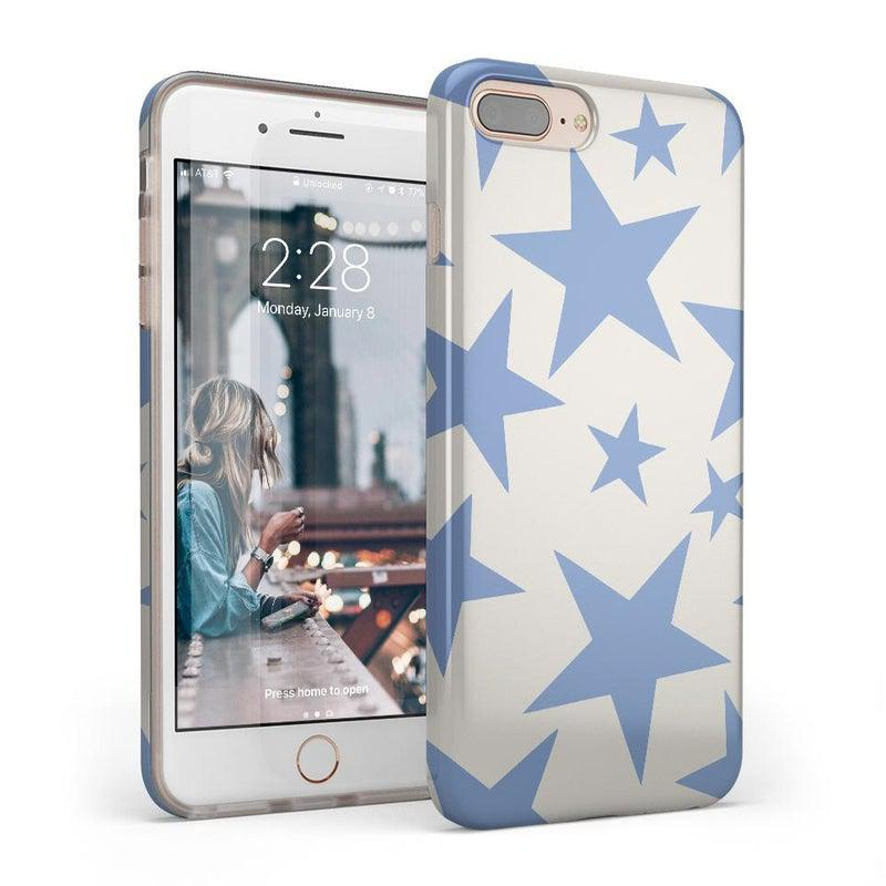 Stars Align | Blue & White Stars Case iPhone Case get.casely Classic iPhone 8 Plus