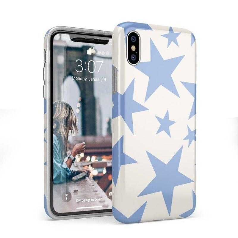Stars Align | Blue & White Stars Case iPhone Case get.casely Classic iPhone X / XS
