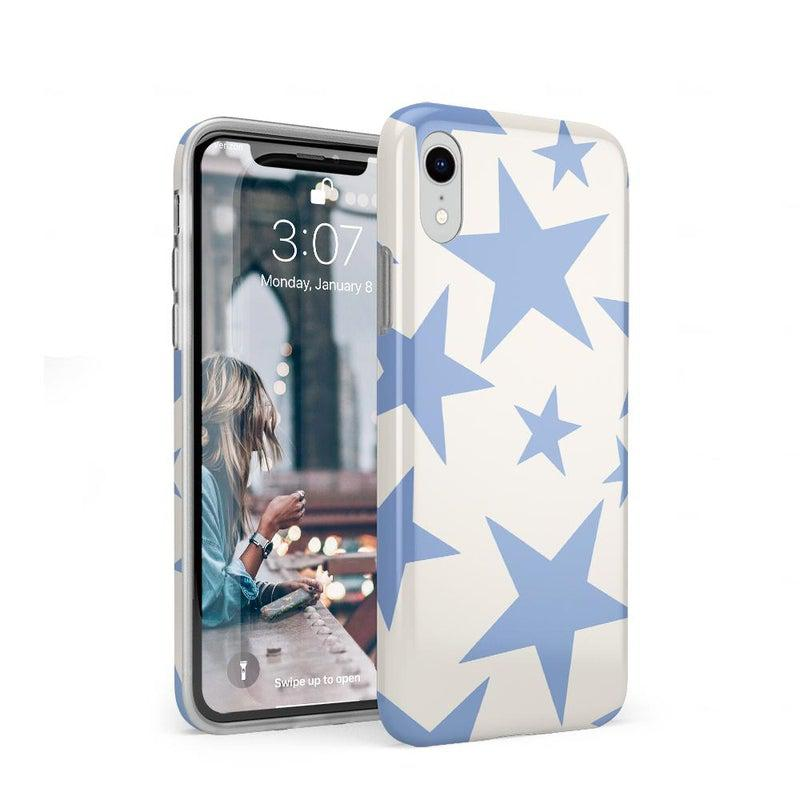Stars Align | Blue & White Stars Case iPhone Case get.casely Classic iPhone XR
