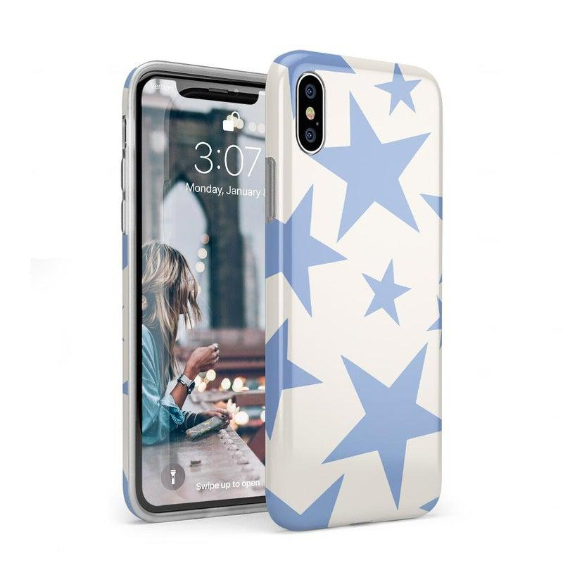 Stars Align | Blue & White Stars Case iPhone Case get.casely Classic iPhone XS Max