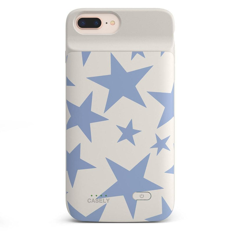 Stars Align | Blue & White Stars Case iPhone Case get.casely Power 2.0 iPhone 8 Plus