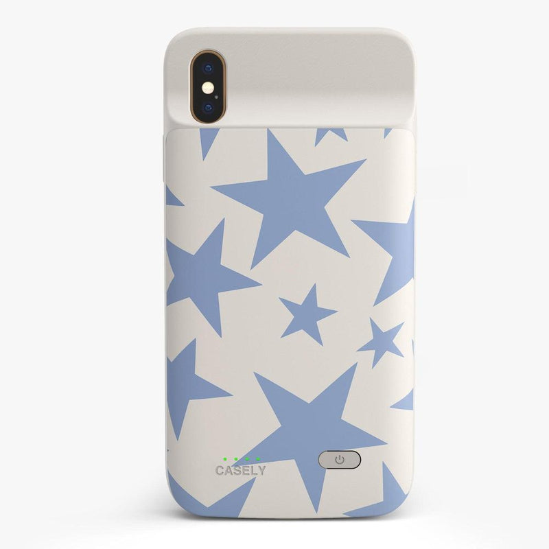 Stars Align | Blue & White Stars Case iPhone Case get.casely Power 2.0 iPhone XS Max