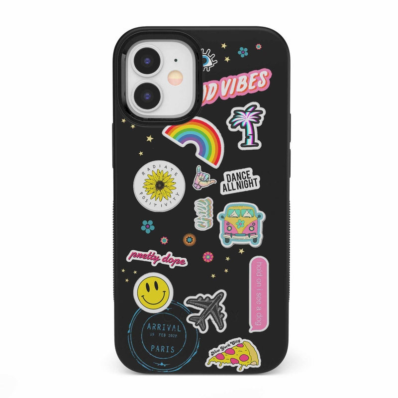 Stuck on U Festival Sticker Case iPhone Case get.casely Bold iPhone 12 Mini