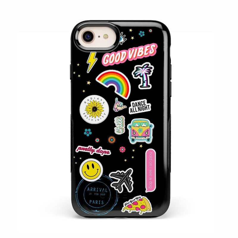 Stuck on U Festival Sticker Case iPhone Case get.casely Bold iPhone 8