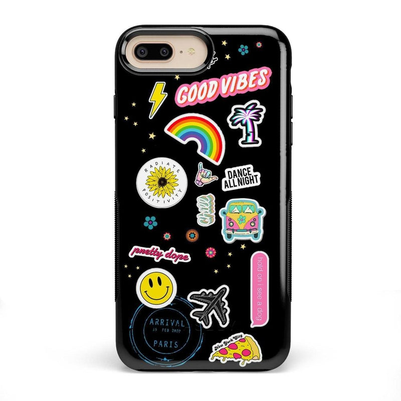 Stuck on U Festival Sticker Case iPhone Case get.casely Bold iPhone 8 Plus