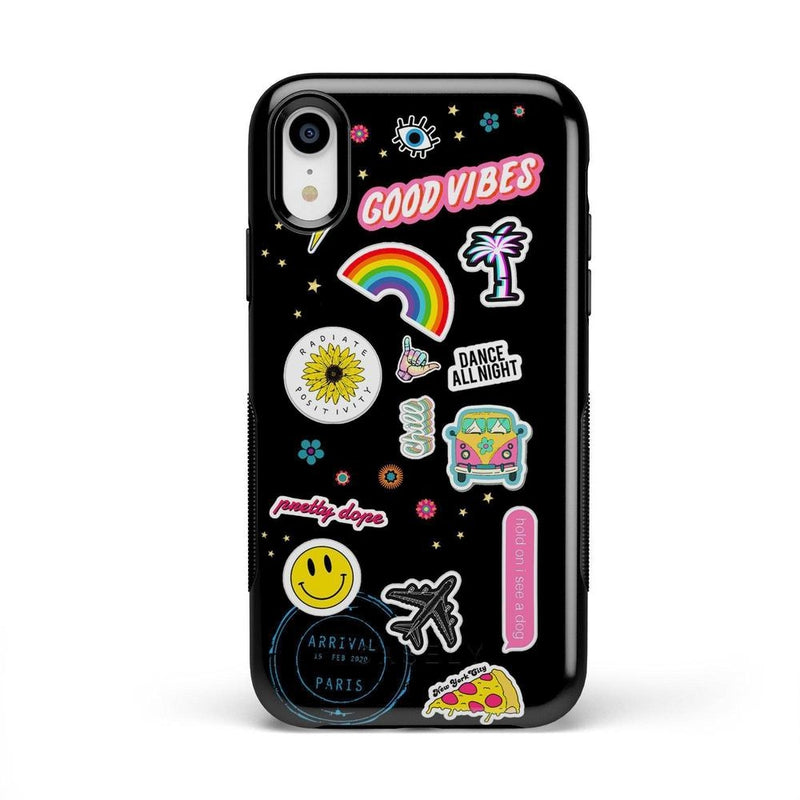 Stuck on U Festival Sticker Case iPhone Case get.casely Bold iPhone XR