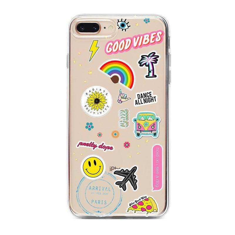 Stuck on U Festival Sticker Case iPhone Case get.casely Classic iPhone 8 Plus