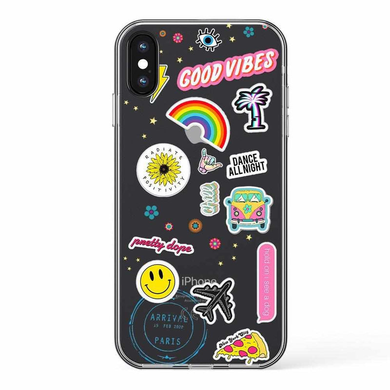 Stuck on U Festival Sticker Case iPhone Case get.casely Classic iPhone XS Max