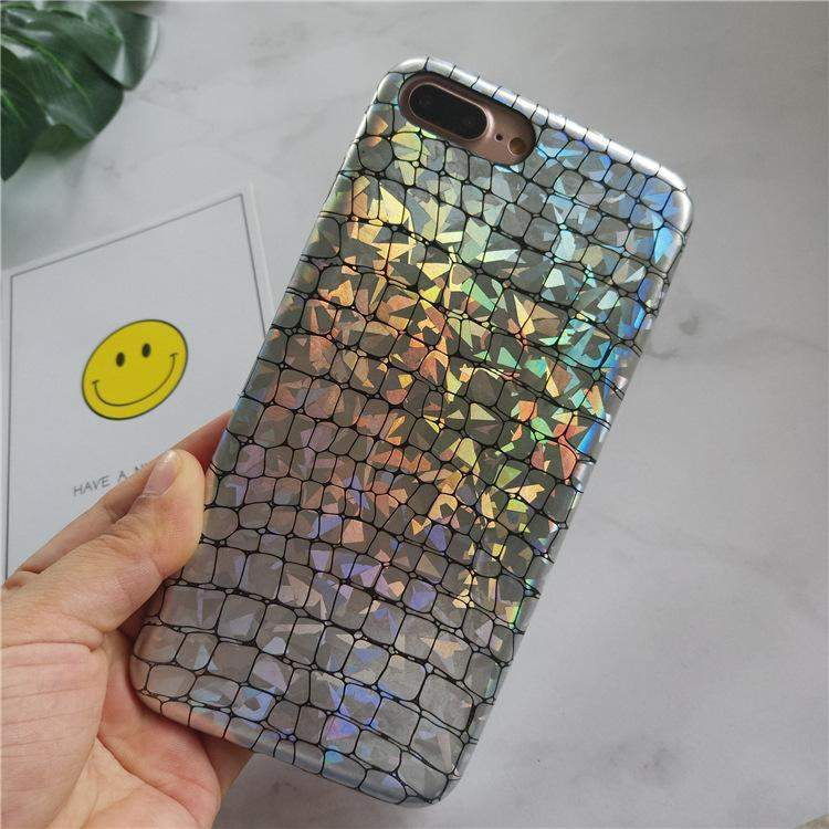 Stylish Holo Chrome Croc Case iPhone Case Get.Casely